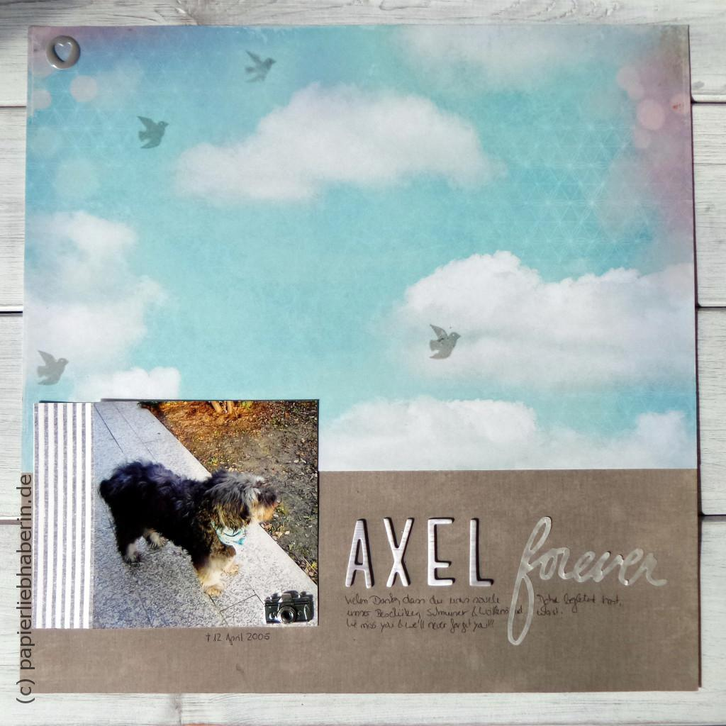 Scrapbooking Layout mit Axel