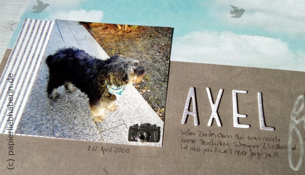 Scrapbooking Layout Axel im detail