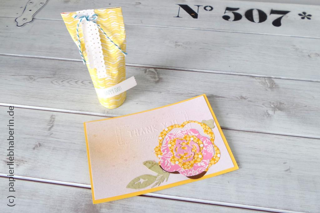 Willkommensgruß Stampin Up Party